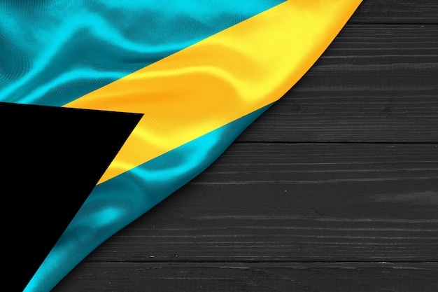 Flag of the bahamas copy space