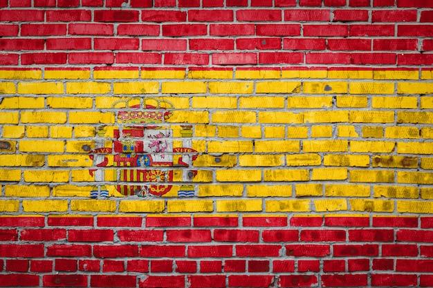 レンガの壁に旗バナー