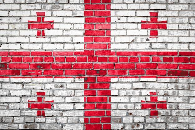 レンガの壁の旗バナー。