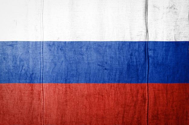 Флаг баннер на текстуру ткани.