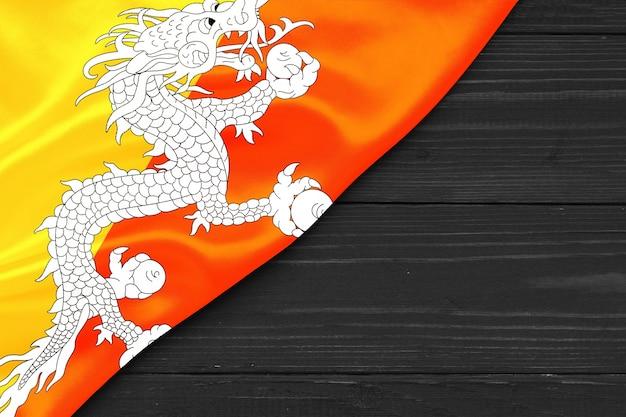 Flag of bhutan copy space