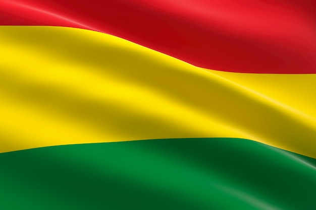 Flag of bolivia 3d illustration of the bolivian flag waving