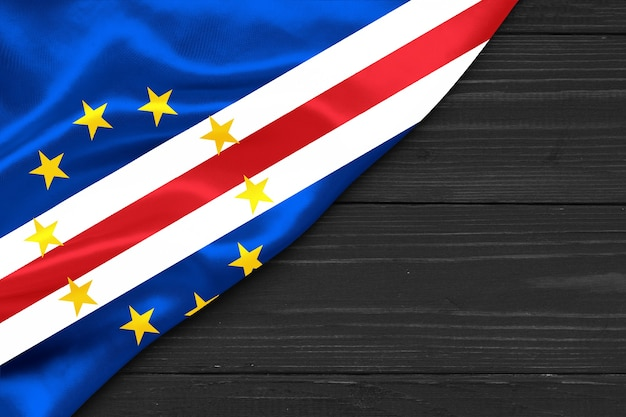 Flag of cabo verde copy space