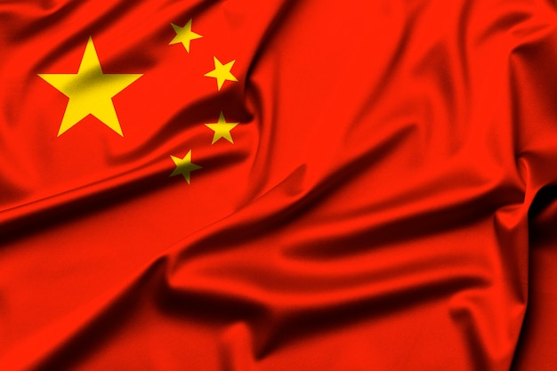 Flag of china as background
