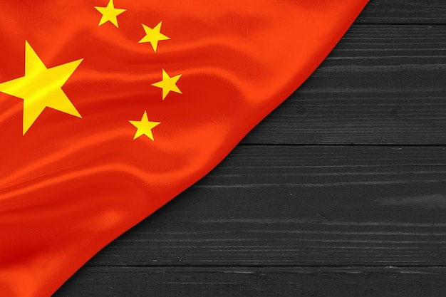 Flag of china copy space