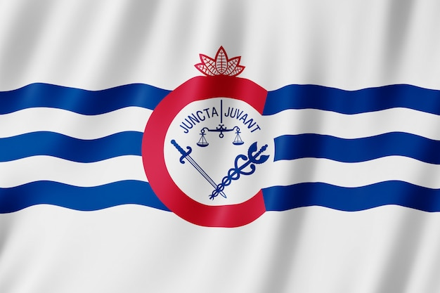 Flag of cincinnati city, ohio (us)