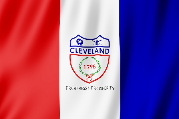 Flag of cleveland city, ohio (us)