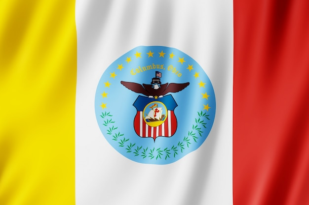 Flag of columbus city, ohio (us)