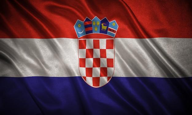 Flag of croatia background