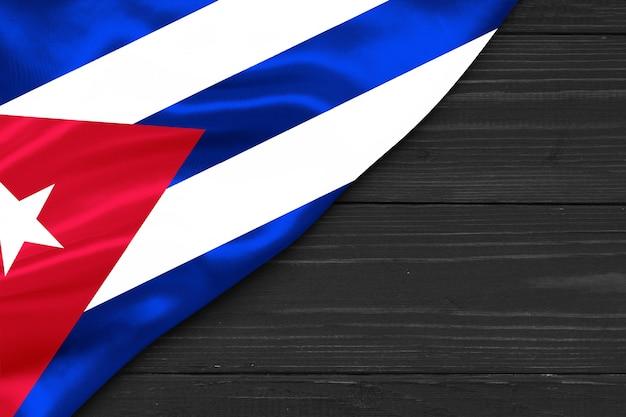 Flag of cuba copy space