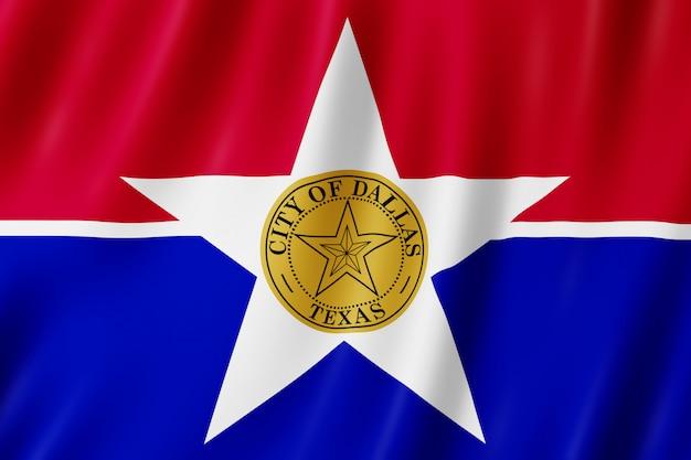 Flag of dallas city, texas (us)