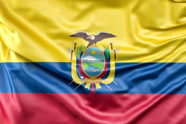 Flag of the ecuador