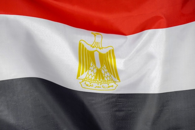 Flag of egypt waving in the wind