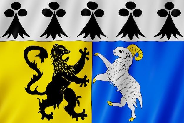 Flag of finistere, france
