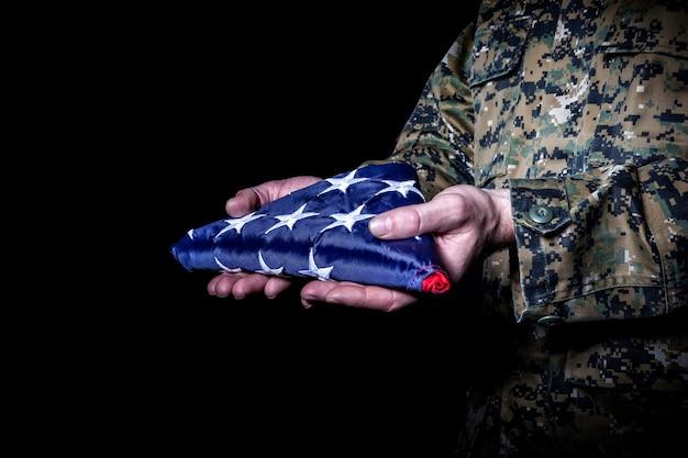 Flag fold old glory