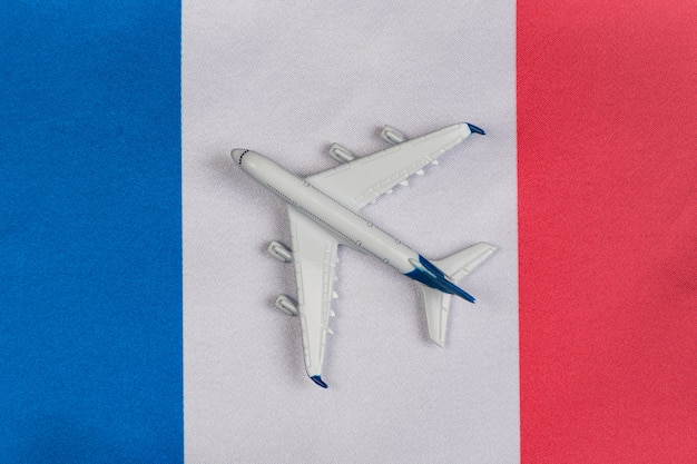 Flag of france and toy plane