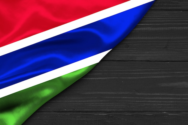 Flag of the gambia copy space