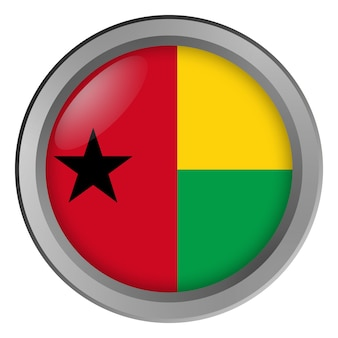 Flag of guinea bissau round as a button