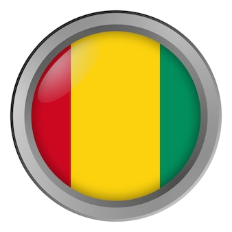 Flag of guinea round as a button