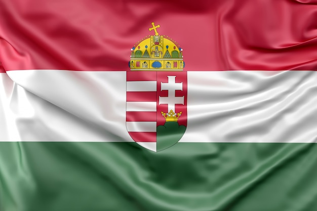 Flag of hungary with coat of arms