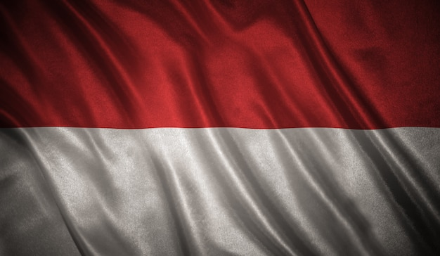 Flag of the indonesia
