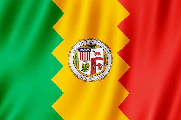 Flag of los angeles city, california (us)