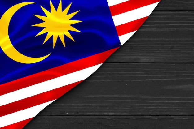 Flag of malaysia copy space