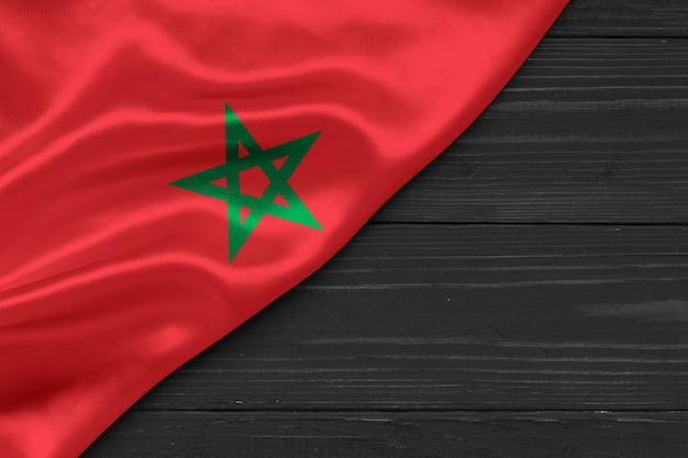Flag of morocco copy space