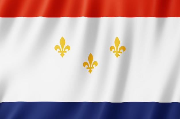 Flag of new orleans city, louisiana (us)