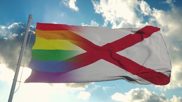 アラバマ州の旗とlgbt