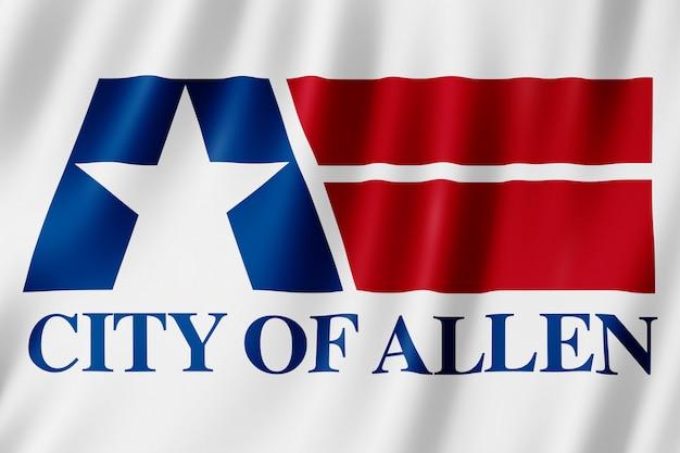 テキサス州アレン市の旗