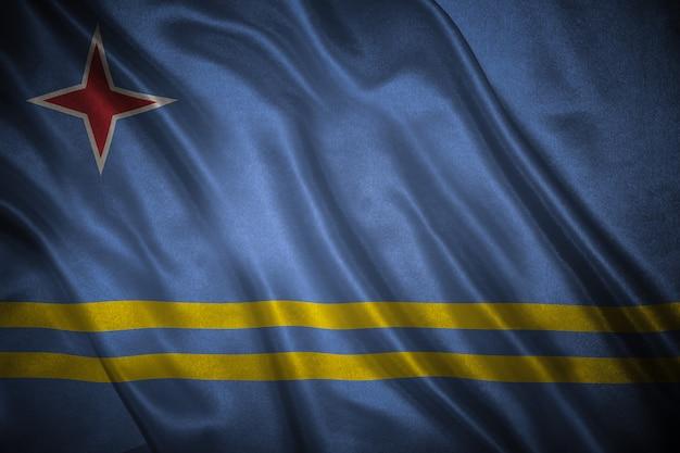 アルバの背景の旗