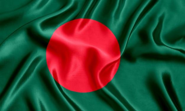 Флаг бангладеш шелк крупным планом фон