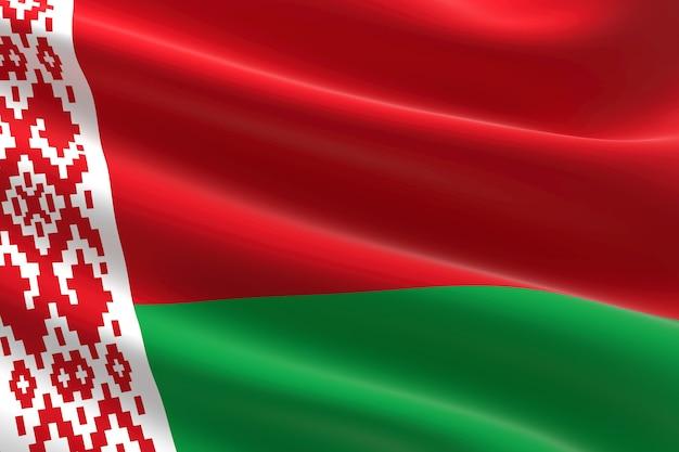 Флаг беларуси. 3-я иллюстрация развевающегося белорусского флага.