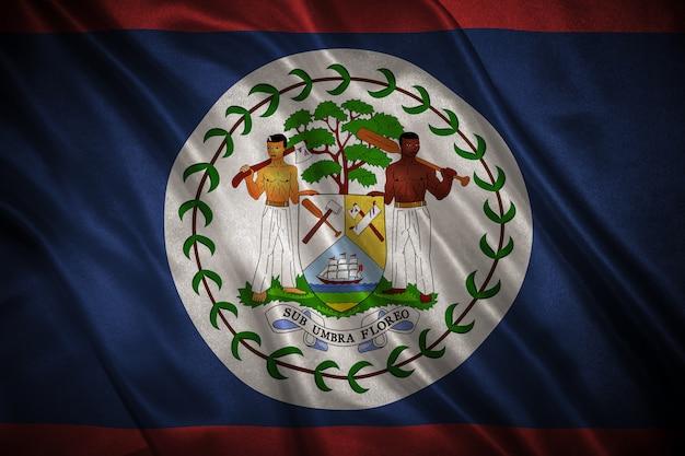 ベリーズの背景の旗