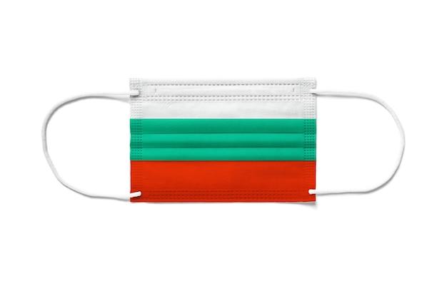 일회용 수술 마스크에 불가리아의 국기