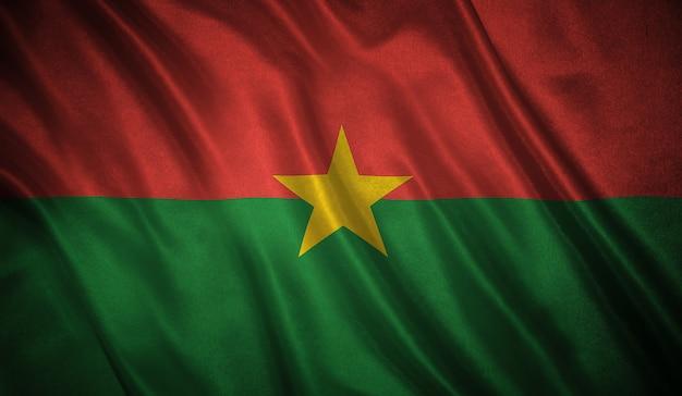 ブルキナファソ背景の旗