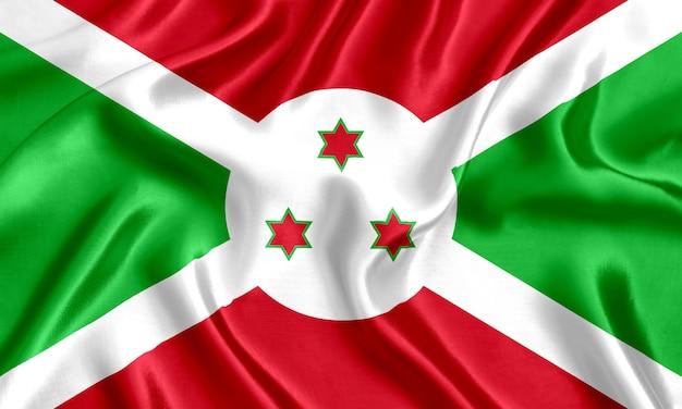 ブルンジの国旗のシルクのクローズアップの背景