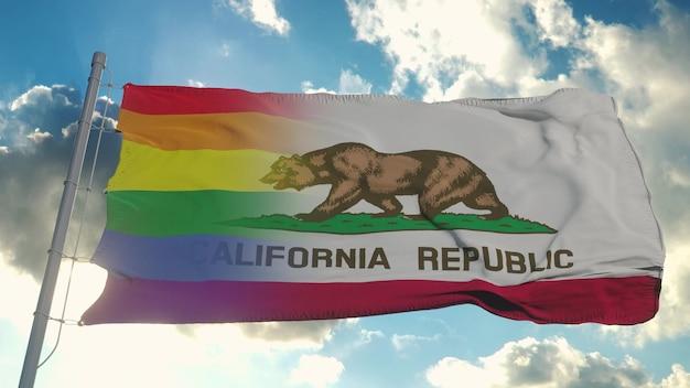 カリフォルニア州の旗とlgbt
