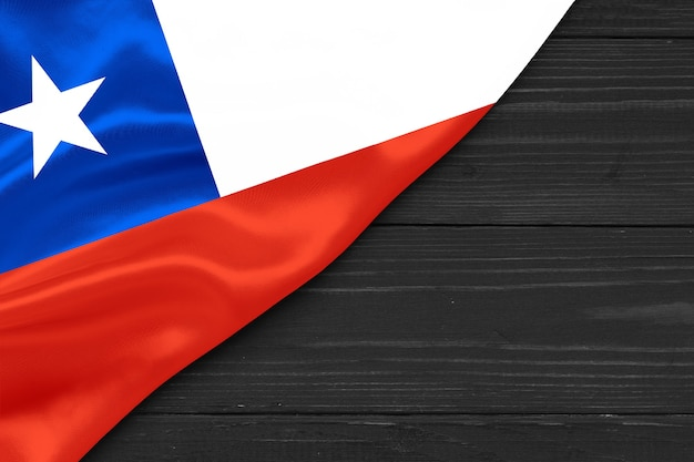 チリのコピースペースの旗