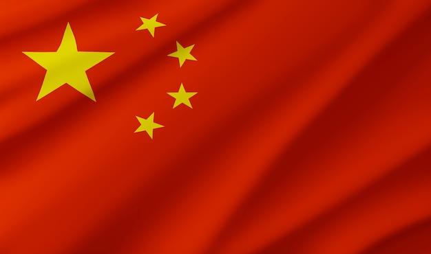 Флаг китая фон баннер шаблоны дизайн 3d иллюстрации