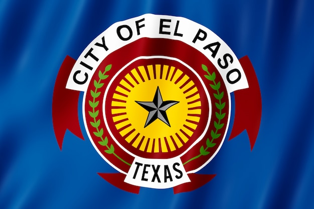アメリカ合衆国テキサス州エルパソ市の旗