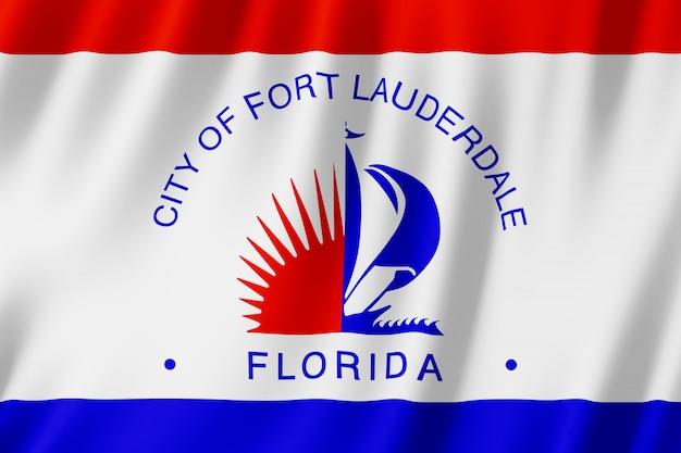 Флаг города форт лодердейл, штат флорида (сша)