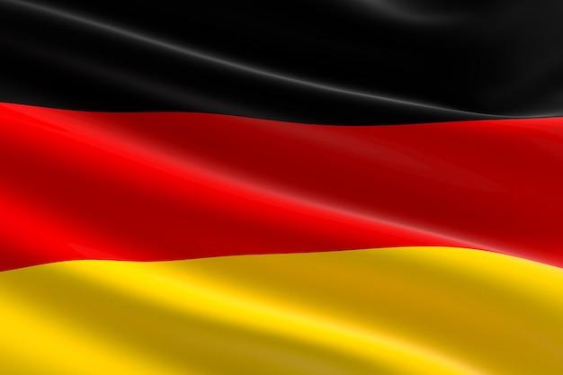 독일의 국기입니다. 흔들며 독일 국기의 3d 그림입니다.