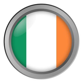 아일랜드의 국기는 버튼으로 라운드