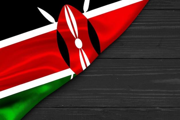 Флаг кении копией пространства