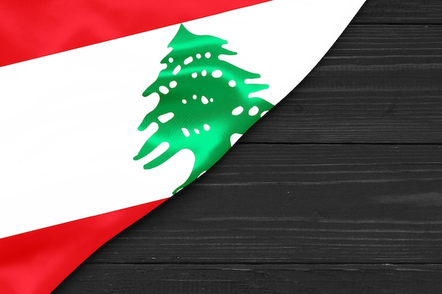 레바논 복사 공간의 국기