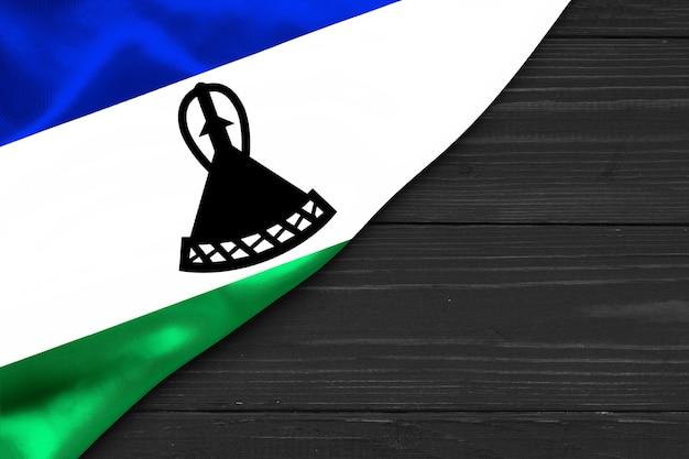 레소토 복사 공간의 국기
