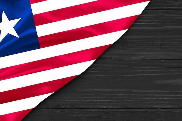 라이베리아 복사 공간의 국기