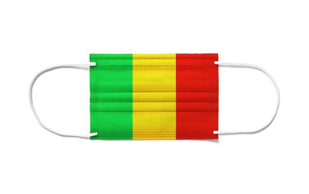 Флаг мали на одноразовой хирургической маске